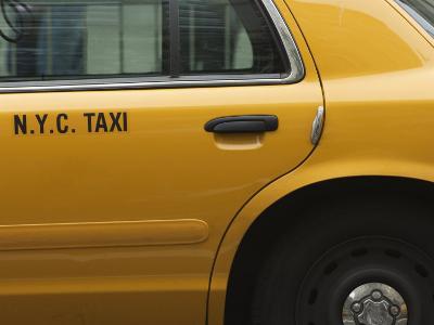 Taxi Cab, Manhattan, New York City, New York, United States of America, North America-Amanda Hall-Photographic Print