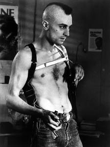 Taxi Driver by Martin Scorsese with Robert by Niro, 1976 (b/w photo)