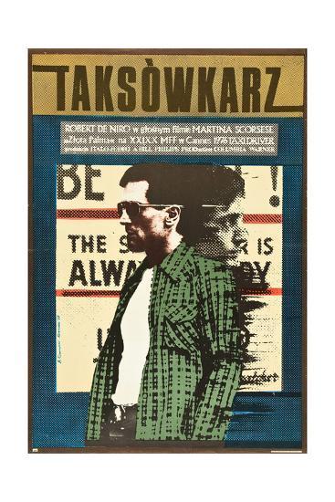Taxi Driver, Robert De Niro on Polish Poster Art, 1976--Giclee Print