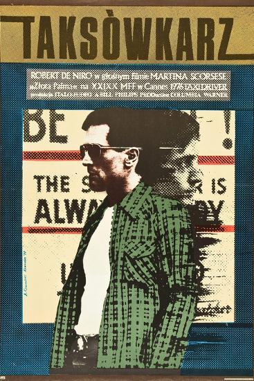 Taxi Driver, Robert De Niro on Polish Poster Art, 1976--Premium Giclee Print
