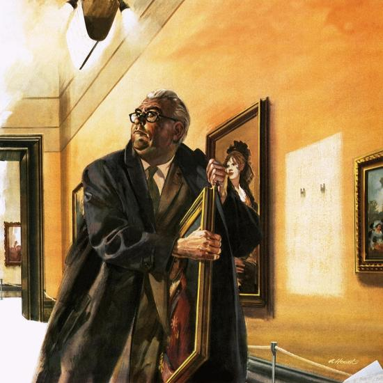 Taxi Driver Stealing Goya's Portrait of Wellington-Andrew Howat-Giclee Print