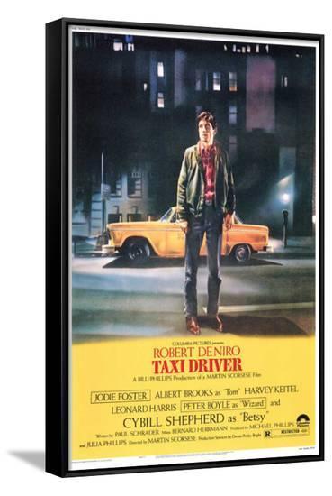 Taxi Driver--Framed Canvas Print