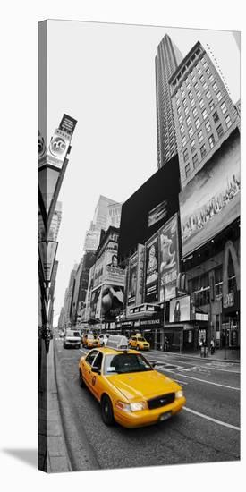 Taxi in Times Square, NYC-Vadim Ratsenskiy-Stretched Canvas Print