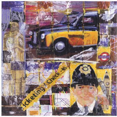 Taxi Jaune-Annick Bru-Art Print