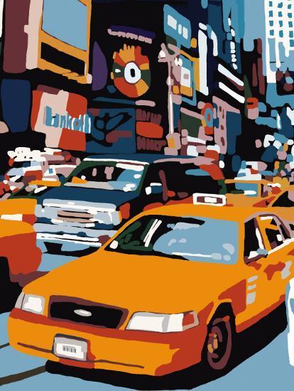 Taxi, New York-Giovanni Manzo-Art Print