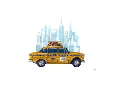 Taxi New York-Barry Goodman-Giclee Print