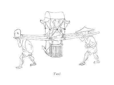 Taxi - New Yorker Cartoon-Saul Steinberg-Premium Giclee Print