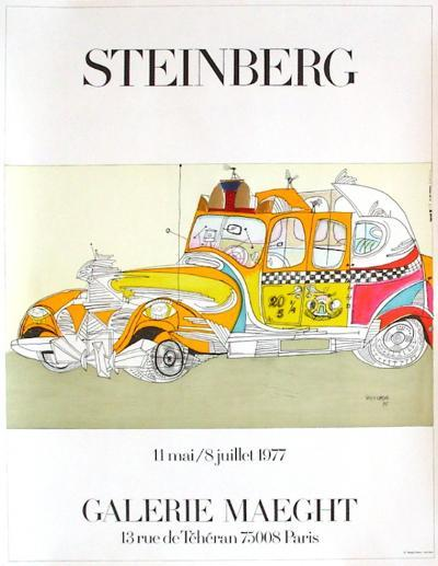 Taxi-Saul Steinberg-Collectable Print