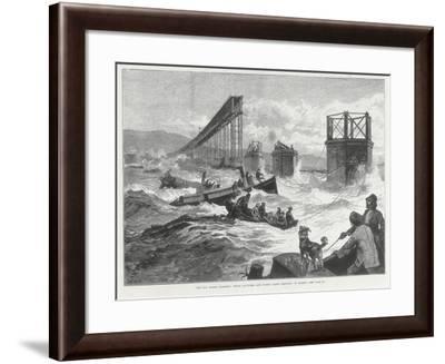 Tay Bridge Disaster, Scotland, 28 December 1879--Framed Giclee Print