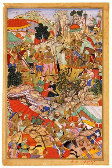 Tayang Khan Presented with the Head of the Mongol Leader Ong Khan, C. 1596- Miskina-Giclee Print