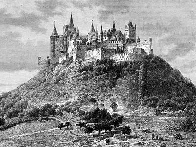Burg Hohenzollern, South of Stuttgart, Germany, 19th Century