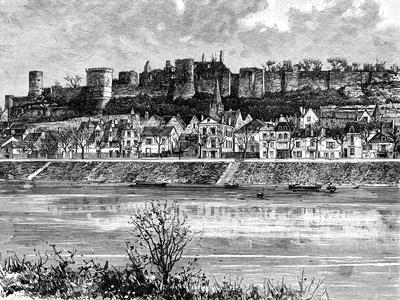 Chinon and the Vienne River, France, 19th Century