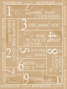 Bathroom Rules by Taylor Greene