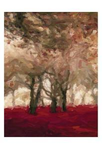 Crimson Forest Floor A3 by Taylor Greene