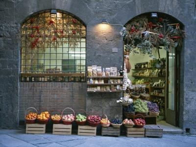 A Fruit and Vegetable Shop in Siena