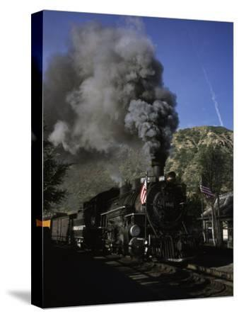 A Steam Engine Leaves the Station in Durango, Colorado, Durango, Colorado