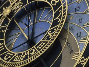 A View of the Detail in the Astronomical Clock in Old Town Prague, Prague, Czech Republic by Taylor S^ Kennedy