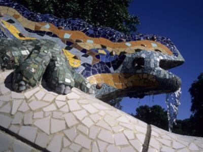 Antoni Gaudi was First to Use Recycled Construction Waste in Works, Parc Guell, Barcelona, Spain by Taylor S. Kennedy