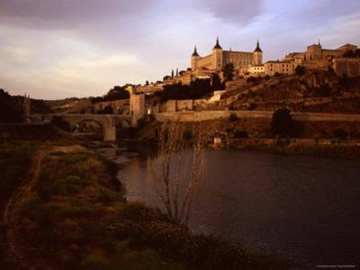 At Sunset a River Runs Past the Ancient City of Toledo, Spain, Toledo, Spain by Taylor S^ Kennedy