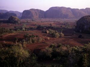 Mogotes Surround the Valley Floor and the Tobacco Farms, Vinales Valley, Cuba by Taylor S^ Kennedy
