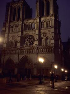 Notre Dame Cathedral on a Winter Evening, Paris, France by Taylor S. Kennedy