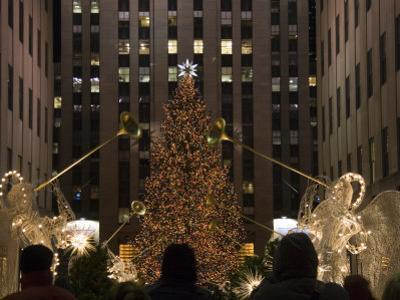 Rockefeller Center and the Famous Christmas Tree,Rink and Decoration, New York City, New York