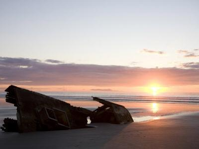 Ship Slowly Rots on the Beach, Queen Charlotte Islands, British Columbia, Canada