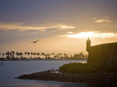 Silhouette of El Morro at Sunset