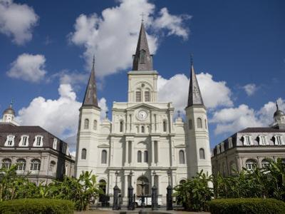 St Louis Cathedral in Jackson Square on a Sunny Day