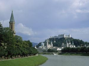 Summertime View of Salzburg and the Salzach River by Taylor S. Kennedy