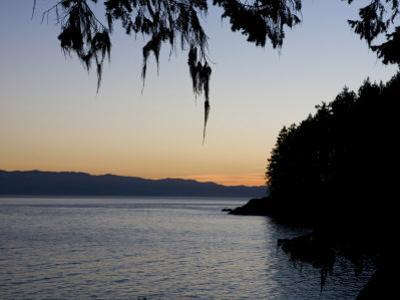 Sunset on the Pacific Coast of Vancouver Island, Sooke, British Columbia, Vancouver Island, Canada