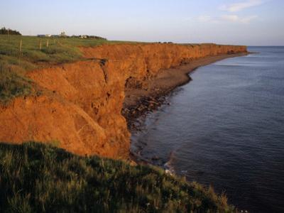 The Red Cliffs of Prince Edward Island at Sunset Glow, Prince Edward Island, Canada