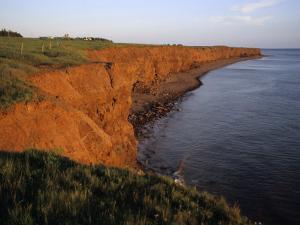The Red Cliffs of Prince Edward Island at Sunset Glow, Prince Edward Island, Canada by Taylor S^ Kennedy