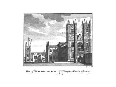 'View of Westminster Abbey & St.Margarets Church adjoining.', late 18th-early 19th century