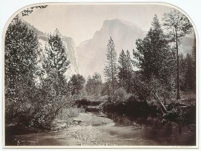 Taysayac, Half Dome, 4967 Ft, Yosemite, 1861 (Mammoth Plate Albumen Print)-Carleton Emmons Watkins-Giclee Print