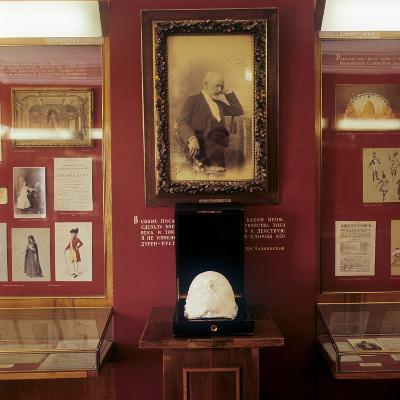 Tchaikvsky's Portrait and Death Mask, Tchaikovsky House and Museum, Klin--Photographic Print