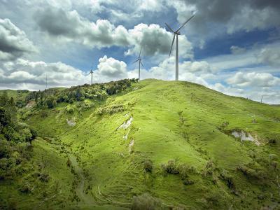 Te Apiti Wind Farm, on the Lower Ruahine Ranges, Manawatu, North Island, New Zealand, Pacific-Smith Don-Photographic Print
