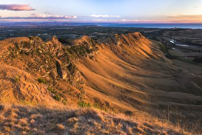 Te Mata Peak at Sunrise, Hastings Near Napier, Hawkes Bay Region, North Island, New Zealand-Matthew Williams-Ellis-Photographic Print