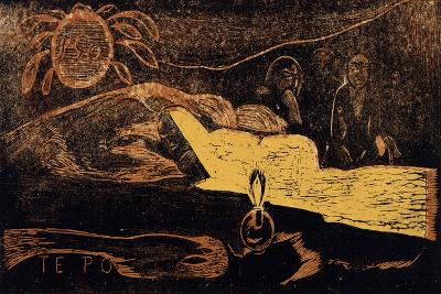 Te Po. La Grande Nuit (From the Series Noa No), 1893-1894-Paul Gauguin-Giclee Print