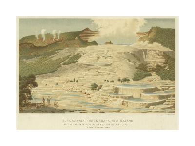 Te Tarata, Near Rotomahana, New Zealand--Giclee Print