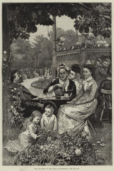 Tea and Music in the Park at Rotterdam-Alfred Edward Emslie-Giclee Print