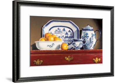 Tea and Oranges-Pauline Eblé Campanelli-Framed Art Print