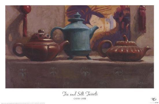 Tea and Silk Tassels-Cathy Lamb-Art Print