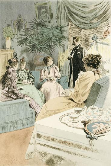 Tea at Five, 1894-Pierre Vidal-Giclee Print