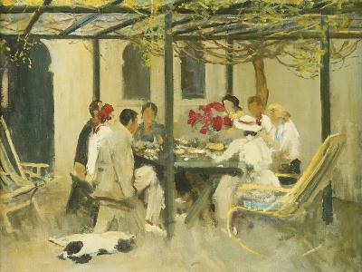Tea at Palm Springs, 1938-Sir John Lavery-Giclee Print