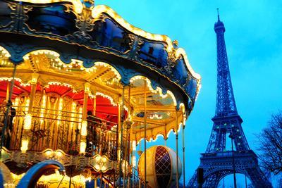 Carousel near Eiffel Tower in Paris