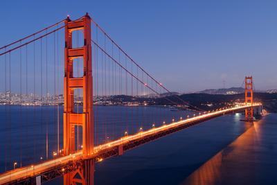 Golden Gate Bridge at Night. San Francisco, USA
