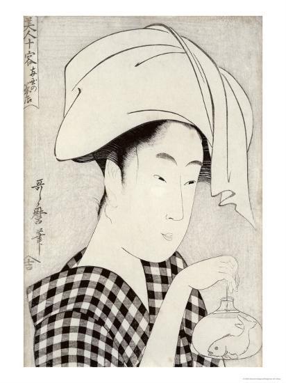 Tea-House in Ryogoku, from the Series Bijin Juyo-Kitagawa Utamaro-Giclee Print