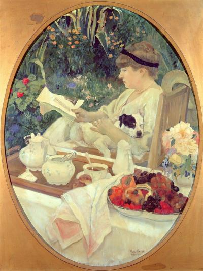 Tea in the Garden, 1910-Leon Georges Carre-Giclee Print