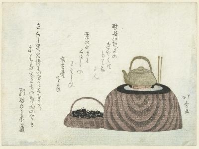 Tea Kettle on the Stove-Shotei Hokuju-Giclee Print